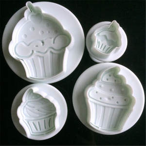 LIMITOOLS 4pcs Cream Cake Fondant Mold Decorating Tool