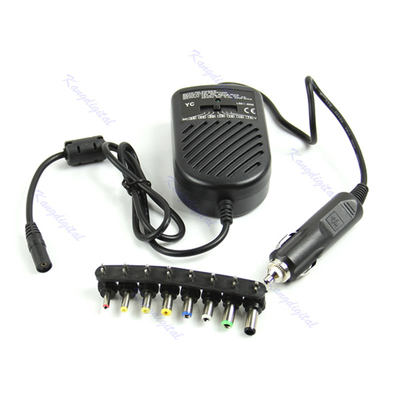 DC 80W Car Auto Universal Charger Power Supply Adapter Set For Laptop Notebook