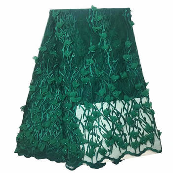 New Nigerian French Lace African Lace Fabric 2018 Embroidered Nigerian Laces Fabric Bridal High Quality French Tulle Lace Fabric