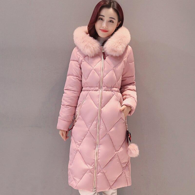 OLGITUM 2018 Fashion Winter Jacket Women Coat Long Parka Luxury Fur Collar Cotton Padded Coat Wadded Jackets PlusSize CC347