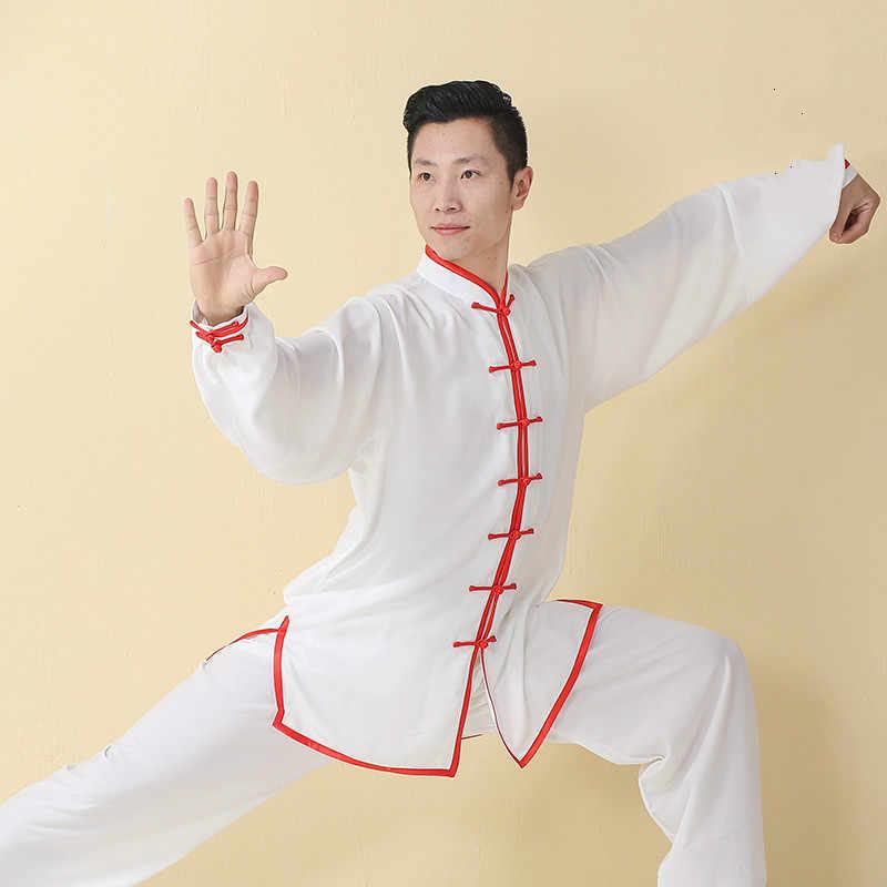 高品質女性男性武術制服長袖太極拳服ステージ大人武道詠春スーツカンフー衣装布 90