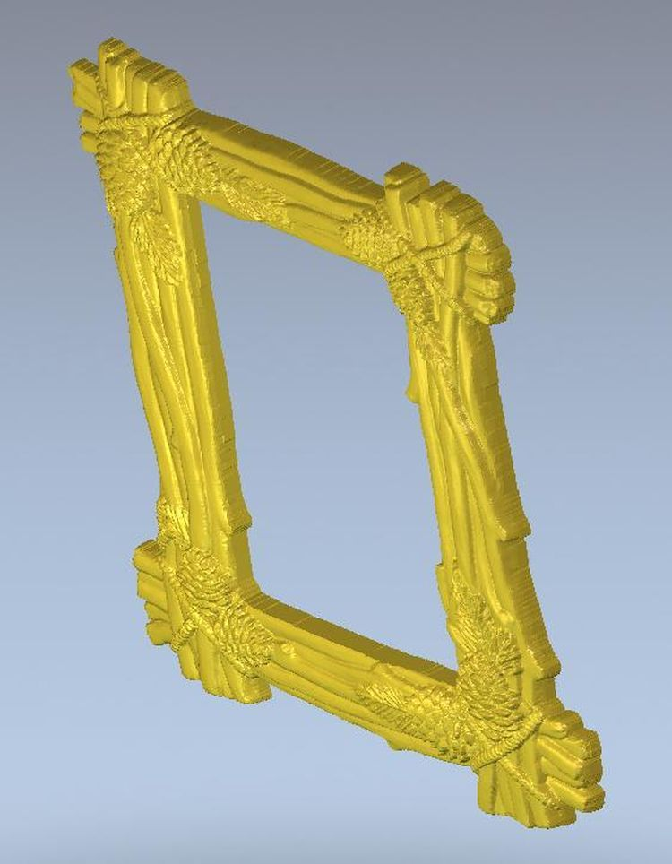 3d model relief  for cnc in STL file format Frame_6 panno hunting 2 for cnc in stl file format 3d model relief