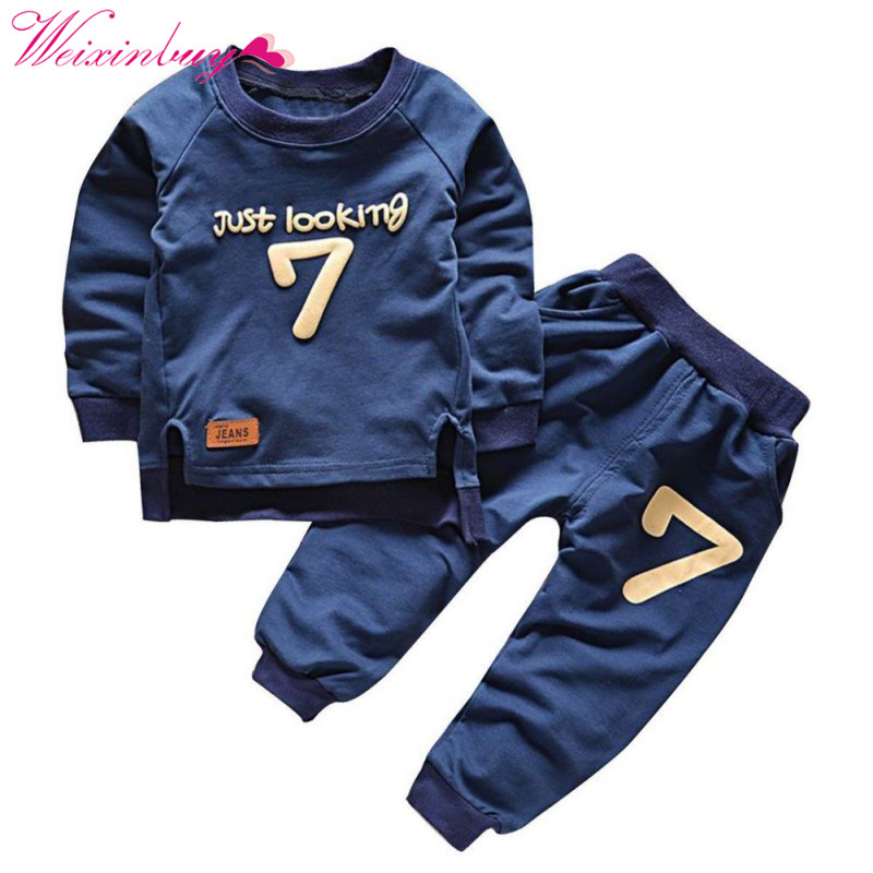 Spring Children Clothing Sets Boys Girls Warm Long Sleeve Sweaters+Pants Fashion Kids Clothes Sports Suit 2-6 Years