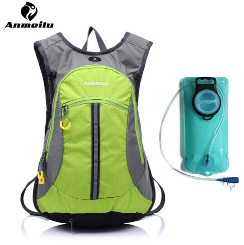 ANMEILU 15L Hydration Backpack Outdoor Sport Waterproof Hiking Climbing Cycling Optional 2L Sports Water Bags anmeilu 18l cycling backpack waterproof sport bag mtb cycling hydration water bags outdoor climbing hiking rucksack bicycle bag