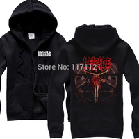 Free Shipping DEICIDE Hell With God Death Metal Mens Hoodies Size S XXL