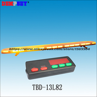 TBD 13L82 High quality super bright 1.8M Amber LED lightbar,engineering/emergency lightbar,DC12V/24V Car Roof Flash Strobe light