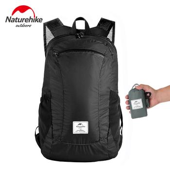 Naturehike lekki składany wodoodporny Nylon kobiety mężczyźni skóra plecak 18L podróży Outdoor Sports Camping torba turystyczna plecak tanie i dobre opinie CN (pochodzenie) NH17A012-B Unisex Miękka osłona