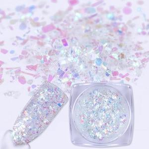 Image 2 - BORN PRETTY  Irregular Flakies Nail Sequins 0.7g Colorful Foil Paper Paillette Flakes for  Nail Art Decoration