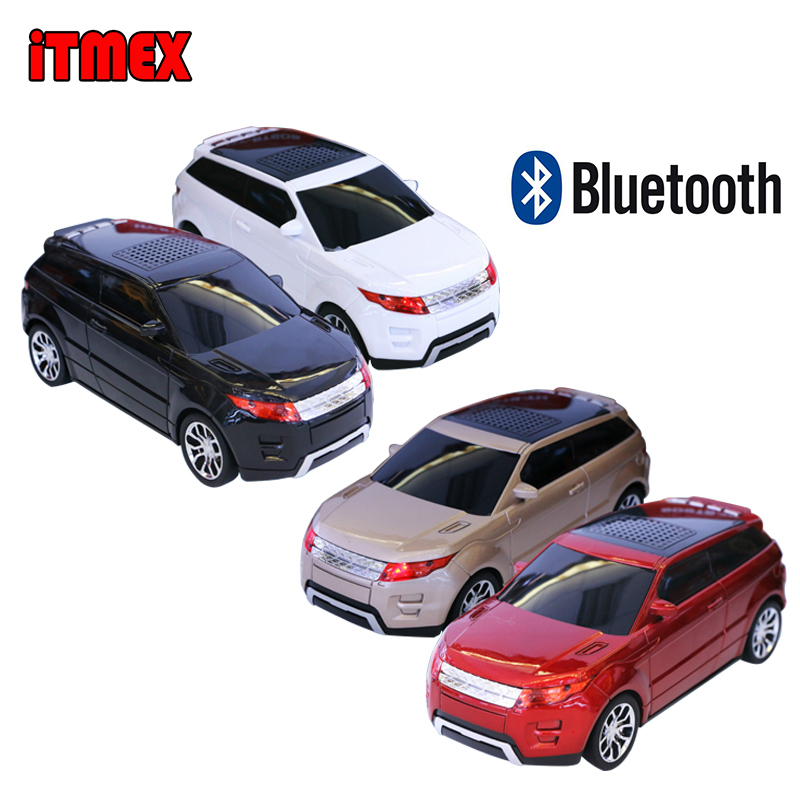 imágenes para Bluetooth mini altavoz con forma de coche sd micro tf usb portable Audio Reproductor de música con Radio FM Estéreo Para MP3 Mp4 PC