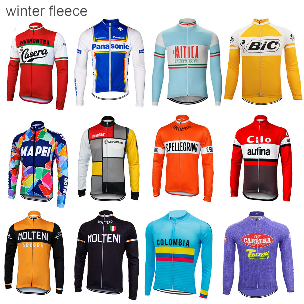 Winter fleece radfahren jersey mann langarm fahrrad tragen thermische Winddicht radfahren kleidung ropa Ciclismo Mehrere entscheidungen