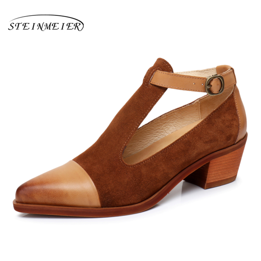 Schuhe braun blau