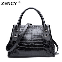2019 Europe America Crocodile Pattern Genuine leather Handbags Real leather Ladies Tote Shopping Shoulder Messenger Handle bag