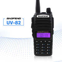 UV-82 baofeng talkie-walkie 5 W double émetteur-récepteur de poche PTT Interphone FM récepteur CB Ham Amateur Radio bidirectionnelle