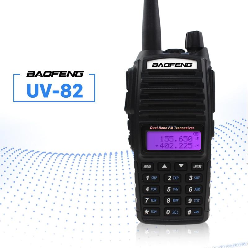 BAOFENG UV-82 Talkie-walkie VHF UHF 5 w 8 w Double PTT Émetteur-Récepteur De Poche Interphone FM Récepteur CB Jambon Amateur radio Bidirectionnelle