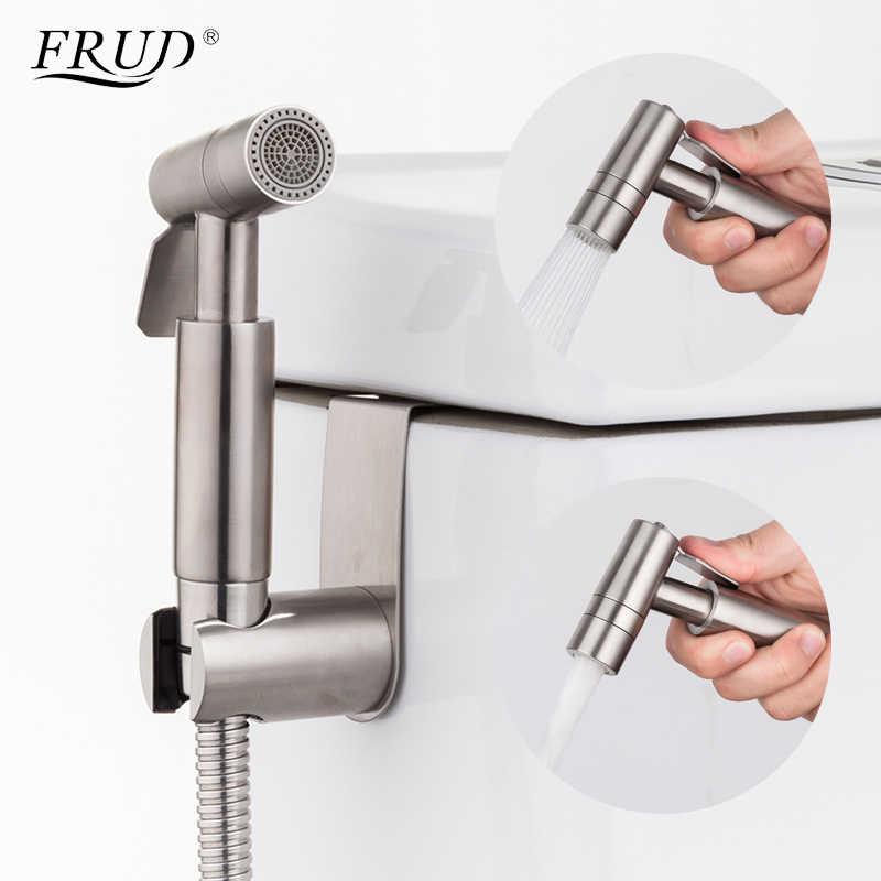Frud новый ручной биде спрей душ Туалет два вида воды розетки Набор матовый нержавеющая сталь Биде кран Y50005