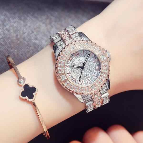 1bdb7c5d60a Relogio Feminino Fashion Women Rhinestone Watches Rose Gold Sliver Ladies  Dress Quartz Watch Gift Wristwatch Clock