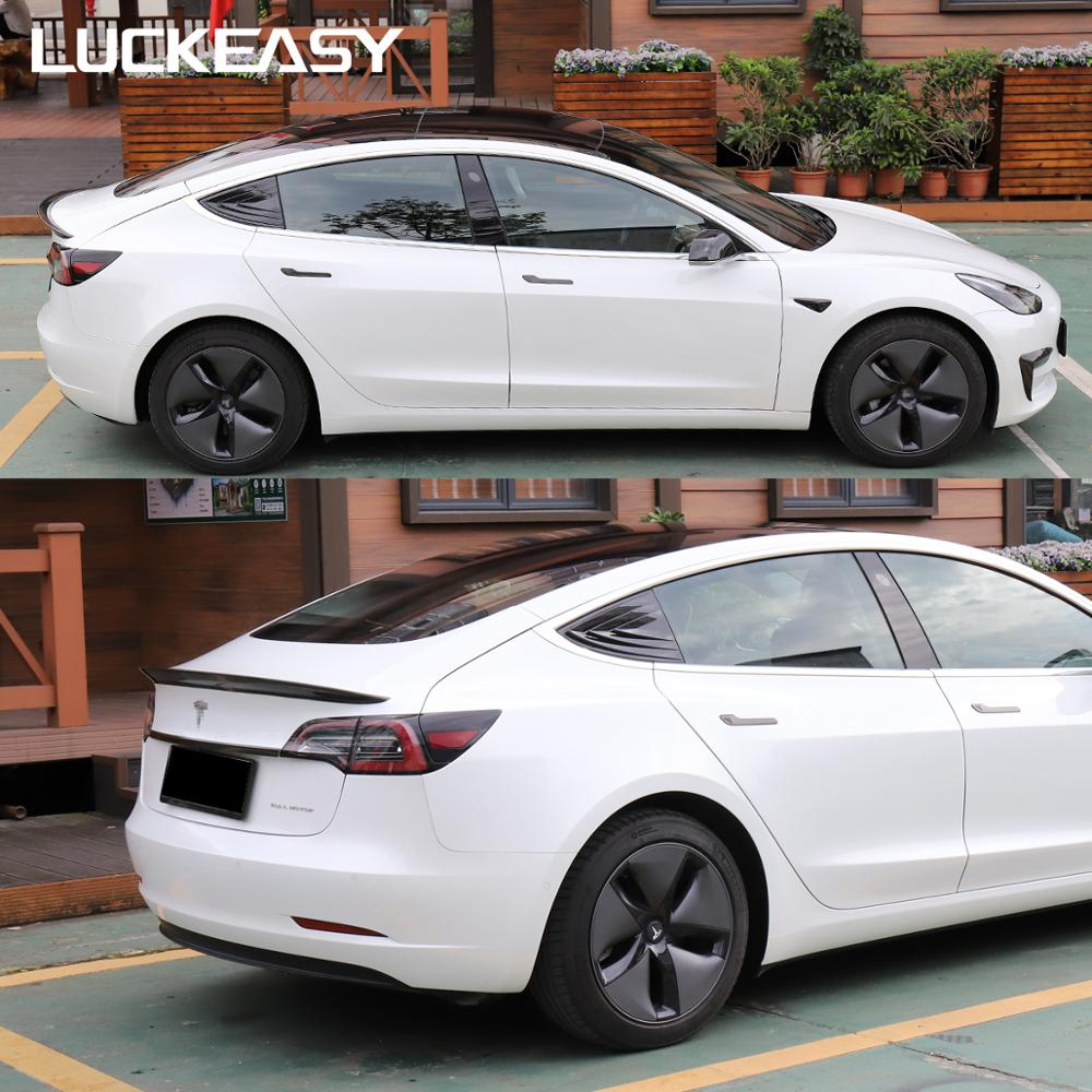 LUCKEASY Car Rear trim window modified patch For Tesla Model 3 Car special modified rear triangle window mirror decorated in Chromium Styling from Automobiles Motorcycles