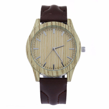Fashion Quartz Watch Men Women Brand Watches Luxury Imitation   Wooden Wristwatch Vintage Leather Wood Color Male Watch LZ2053