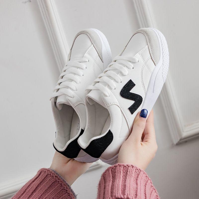 Noir rouge Femmes blanc Nouveau Blanc En 2018 Plates Casual Chaussures Chaussures Cuir zv1qxnxp6w