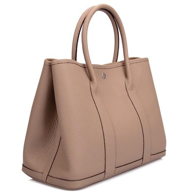 0935c7ca889 Ainifeel Women s Genuine Leather Luxury Designer Tote Bag Top Handle  Handbags Shopping Bag