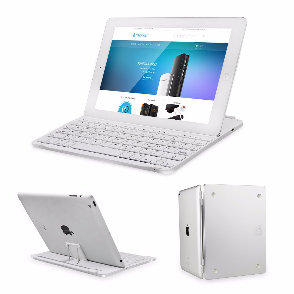 TeckNet Ultrathin Bluetooth Keyboard Cover for Apple iPad 4 / 3 / 2 -Keyboard Case with Auto Sleep / Wake(French layout)
