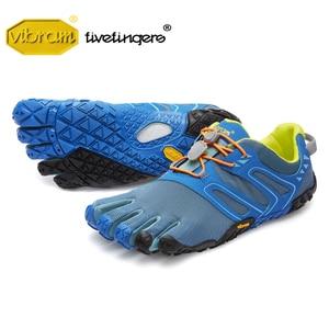 Image 1 - Vibram Fivefingers мужские кроссовки, Нескользящие, для бега, на открытом воздухе, с пятью пальцами, для паркура, приключений, спортивная обувь