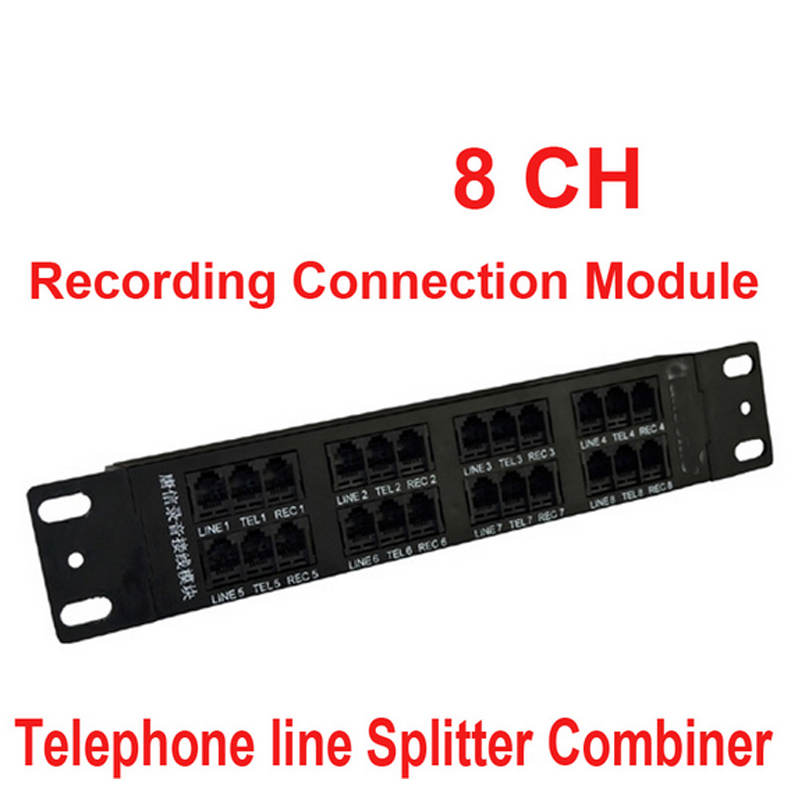 8ch telephone recorder box splitter telephone splitter combiner telephone Recording Connection Module for telecom parts