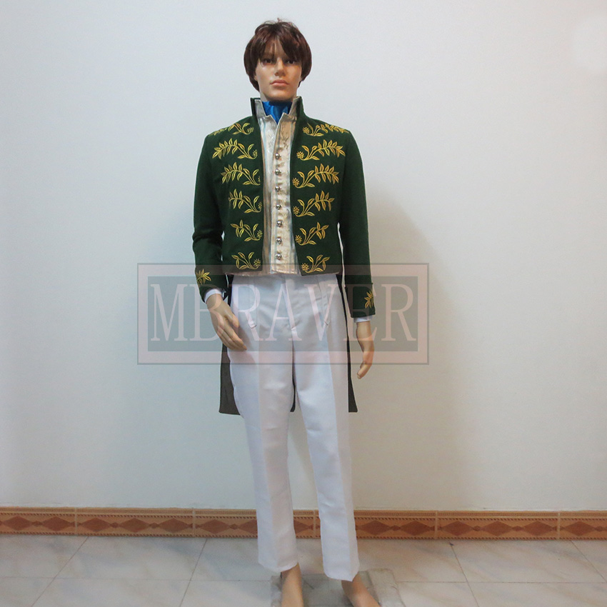 Custom-made Prince Charming Costume Cinderella Prince Costume New Cinderella Movie Cosplay Costume