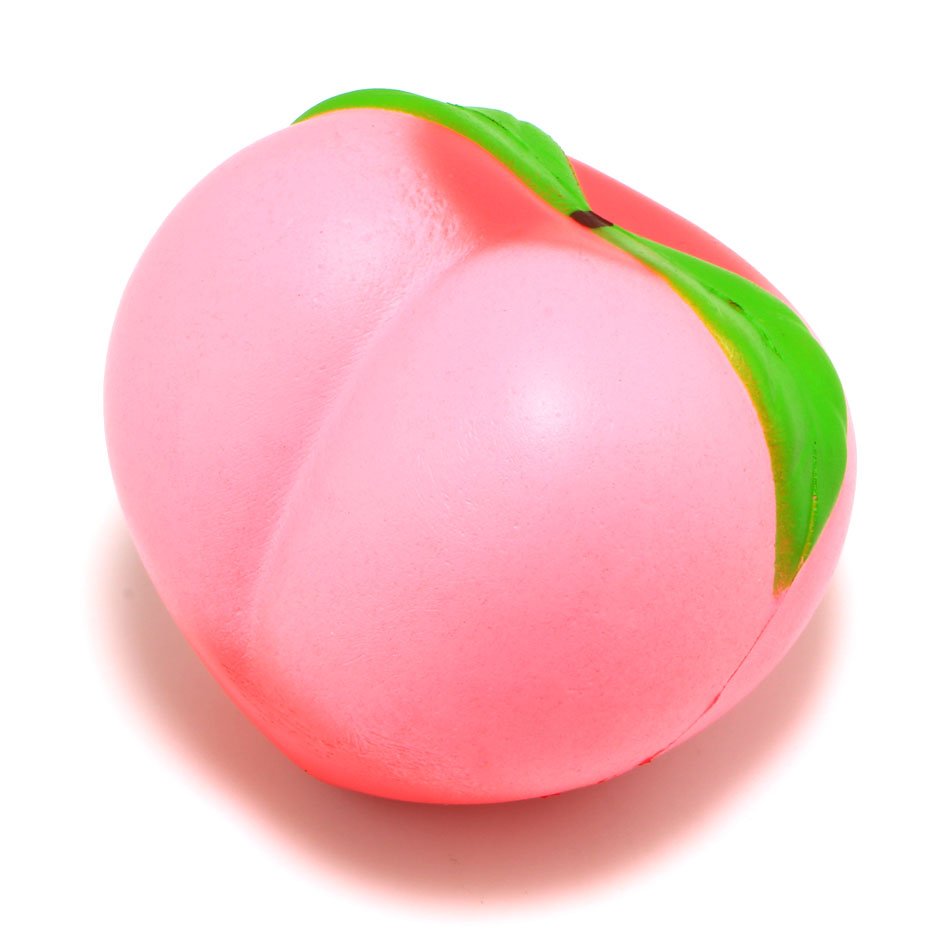 1Pcs 10CM Colossal Soft Squishy Peaches Cream Scented Super Slow Rising