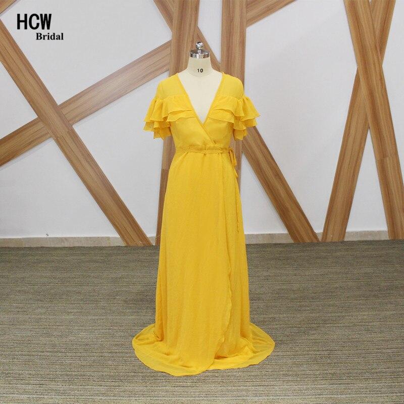 e31227fcb1813 Robes Robe 2019 Fête Plus Enceintes Femmes Jaune Simple La Taille ...