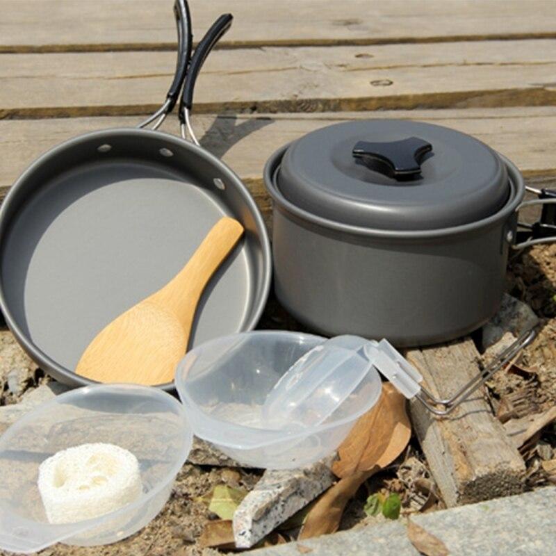 Batterie de cuisine, poêle, DS-500 Camping en plein air Ultra léger 15 pièces batterie de cuisine ensemble empilable