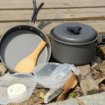 Cookware Sets,Frying Pan ,DS-500 Outdoor Camping Ultra Light Weight 15 Piece Cookware Stackable Set