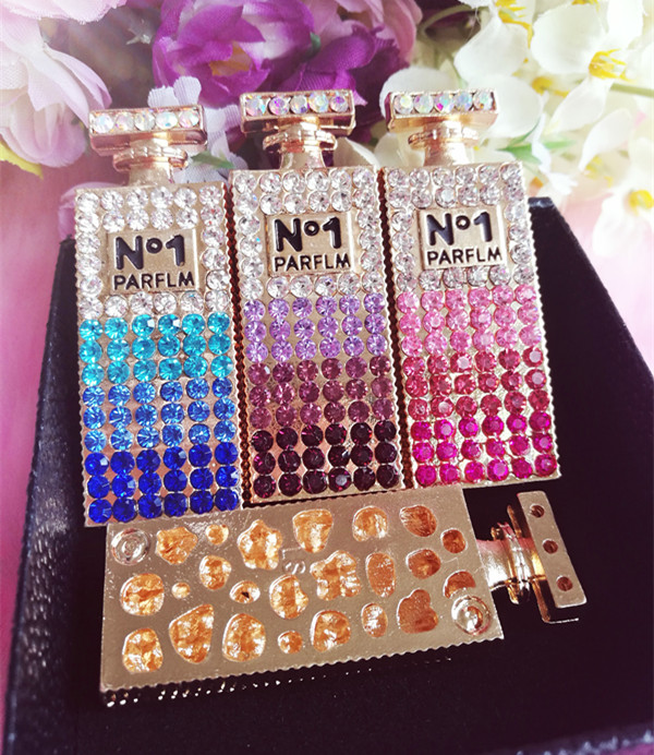 6 pcs per lot Alloy Gradient color Rhinestone Perfume with cover Cell Phone  Case DIY Decoration 7fac8c09c271