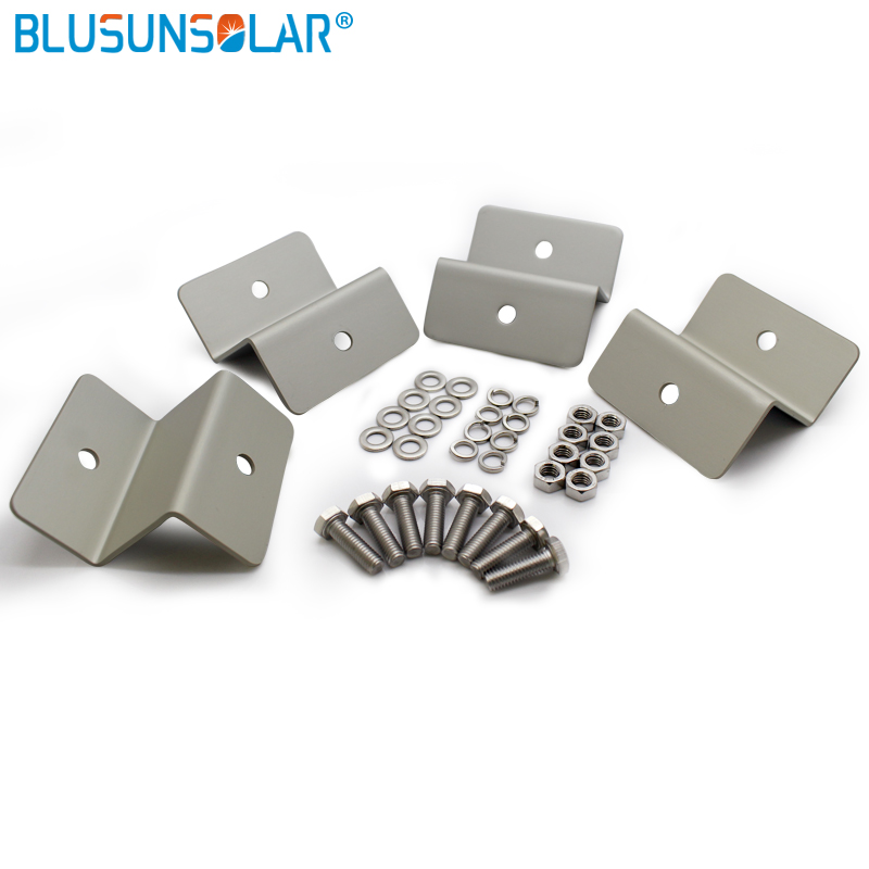 20 sets lot hot selling high performance Z type Solar Aluminum Bracket for PV Panel Roof