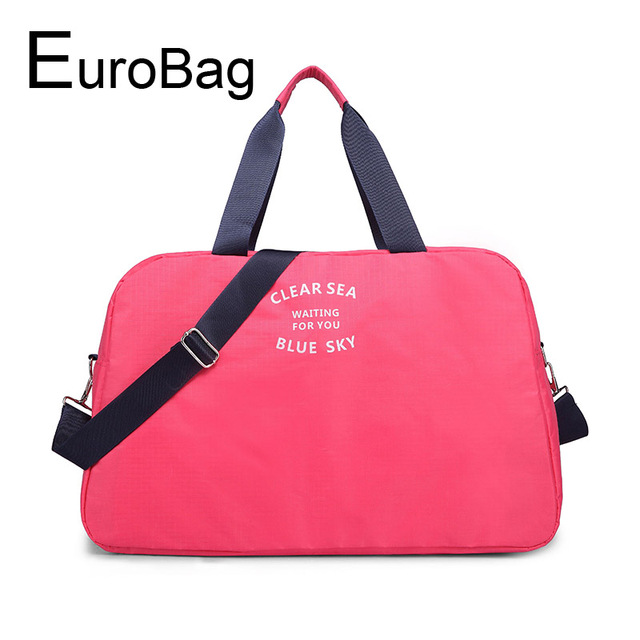 57f76684e531 Модные дорожная сумка женская Повседневная Новая сумка розовый большой  емкости ручной клади женские сумки пляжная сумка