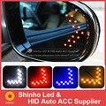 Frete grátis 2 PCS 3528 SMD Branco Amarelo VERMELHO Azul Espelho Painel Seta LEVOU Carro De Alta Potência luzes LED