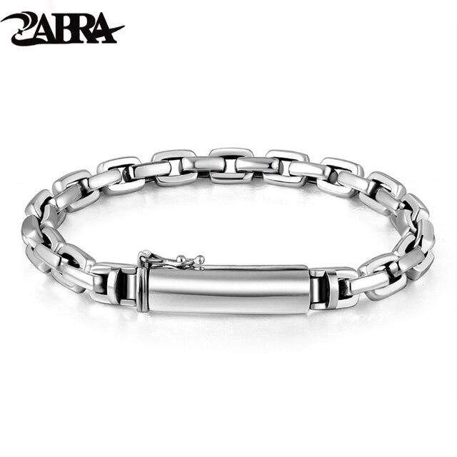 Мужской винтажный браслет ZABRA, браслет из настоящего серебра 925 пробы с крестом, толщина 7 мм, длина по индивидуальному заказу, ювелирные изделия