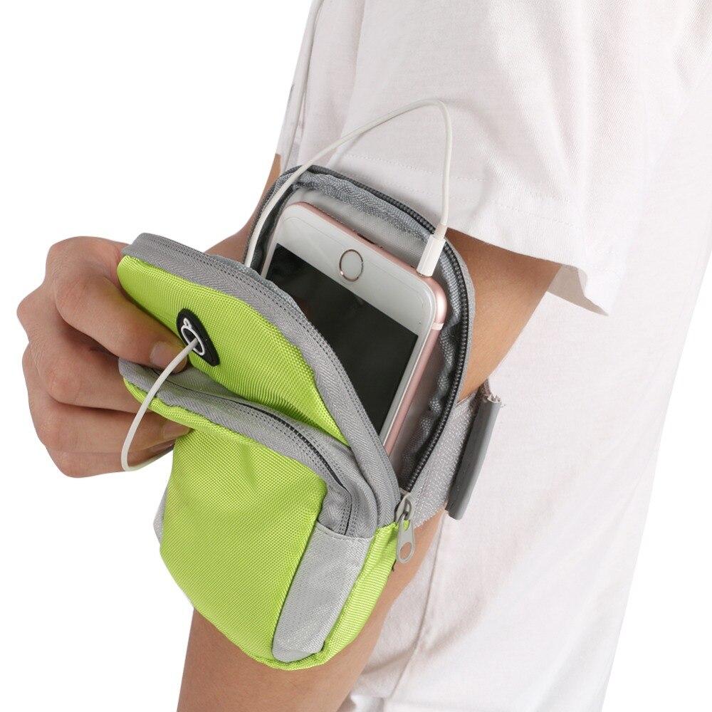 Diskret Laufen Jogging Schutz Telefon Tasche Sport Handgelenk Arm Tasche Im Freien Wasserdichte Nylon Hand Tasche Für Armband Sport Lauf Tasche