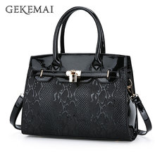 Fashion Lock Ladies Handbags Famous Brands Snake Leather Shoulder Crossbody Bags for Women Designer Casual Female Tote Bag Bolsa