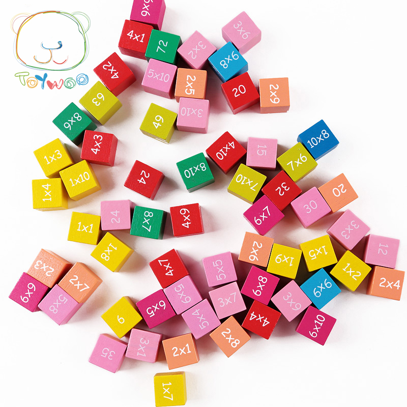 Baby Toys Educational Toys 99 Multiplication Table Math Toy 10*10 Figure Blocks 1-100 Blocks Wooden Toys Pupil Christmas Gift baby toys montessori wooden geometric sorting board blocks kids educational toys building blocks child gift