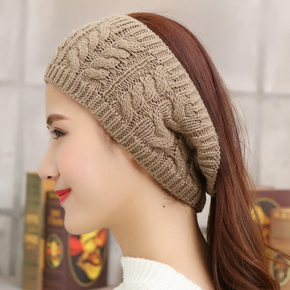 2015 Twisted Knitted Yarn Crochet Headbands Women s Winter Head wrap  Fashion Empty Warmer Hat Hair Band Accessories Headbands-in Women s Hair  Accessories ... e62e8a7d85e