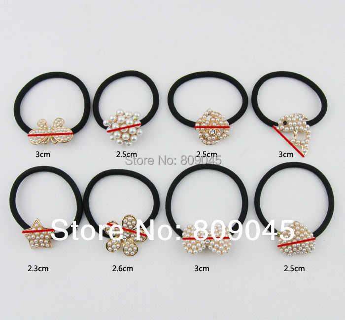 (Pedido mínimo $10) diadema de flores coloridas para mujer/chica soporte de cola de caballo cinta elástica lazos accesorios para el cabello HB23 1 unids/lote
