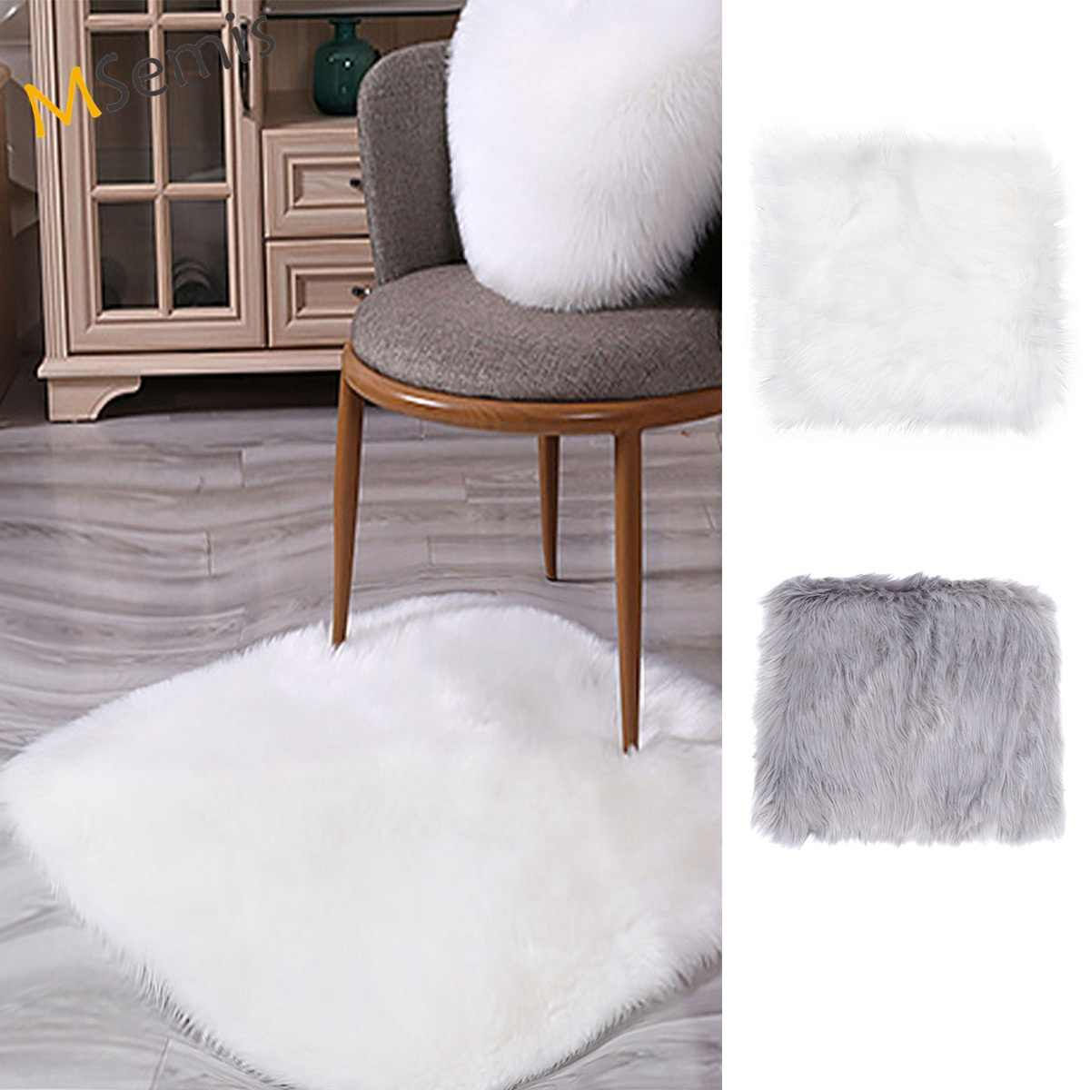 Fluffy Rugs Bedroom Furry Carpet Bedside Sheepskin Area Rugs