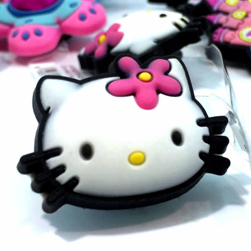 1 pcs de Alta Qualidade Olá Kitty Hot Encantos Sapatos Acessórios Do Partido Decoretion Casa Crianças dos miúdos Dos Desenhos Animados Presente Moda