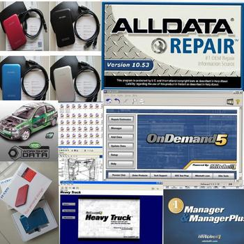 auto repair software Alldata 10.53+ Mitchell ondemand 5.8 2015 + Mitchell manager plus 25in1 in 1TB HDD free