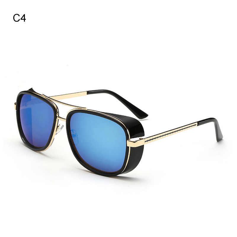 7e40e9d4aeb ... Iron Man 3 Male Steampunk Sunglasses Tony Stark Iron Man Matsuda  Sunglasses Retro Vintage Eyewear Steampunk ...