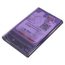 Transparet U3 USB3.0 HDD Case Tool Free SATA 2.5 HDD Enclosure for Macbook Notebook Desktop PC hard disk Box (Not including HDD)
