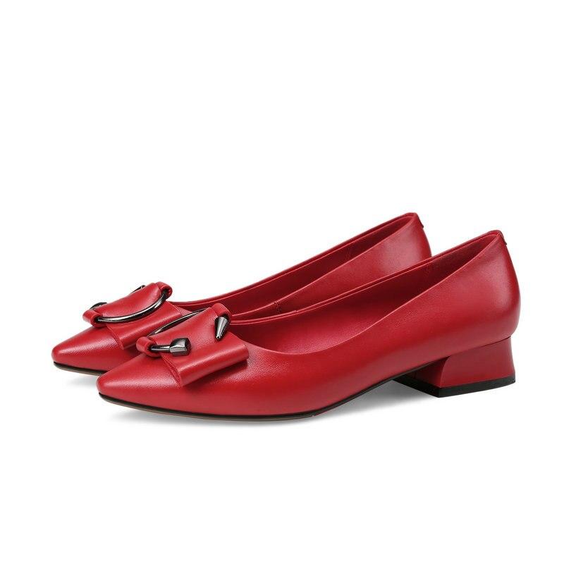 Mujer Zapatos Vache Faible Chaussures Talons De rouge noir Bas À En Dames On Cuir Beige Nemaone Slip Femmes Base Pompes Femme nacWT7BT