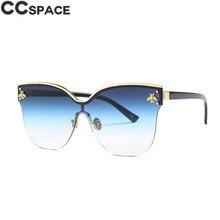 b840d9394 Oro abeja uno lente gafas de sol de las mujeres de los hombres Ojo de Gato  de tonos UV400 Vintage marca gafas de diseñador Oculo.