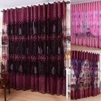 1 Stücke 250 cm x 100 cm Sheer Voile Fenstersteuerung Vorhänge Blumen Tüll Drapieren Schals Schabracken|scarf valance|tulle drapewindow panel curtains -